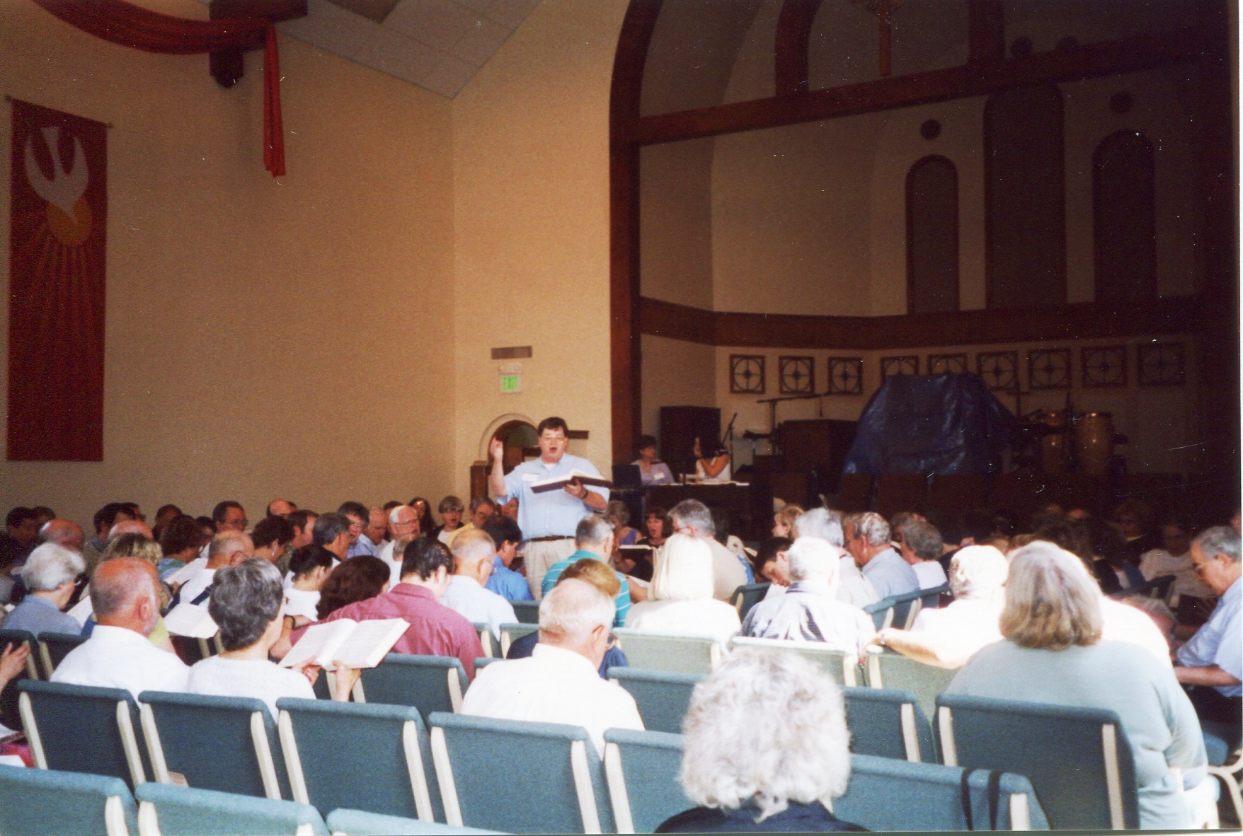 At the National Shape Note Singing Convention in Birmingham AL, 2002.